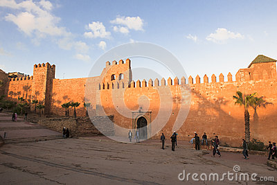 City Wall in Rabat, Morocco Editorial Stock Photo