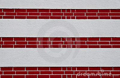 Wall with red-brick layer