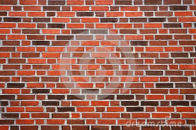 Wall with reddish-brown brick