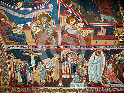 Wall religious paintings
