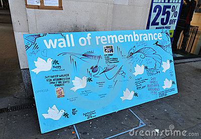 Wall of remembrance Editorial Stock Photo