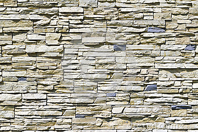 Wall of rough stones
