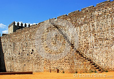 Wall of Sabugal castle in Portugal