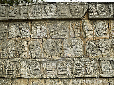 Wall of Skulls a Chichen Itza Yucatan, Messico