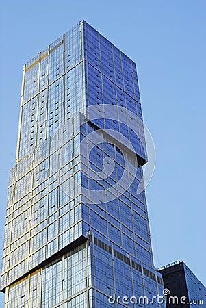 Wall of a skyscraper