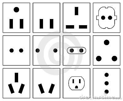 Wall Socket Symbols Set Stock Image - Image: 22384391
