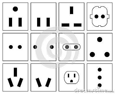 Wall Socket Symbols Set