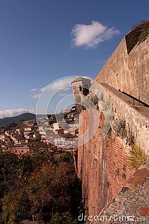 Wall Of Stella Fort, Portoferraio, Elba Island