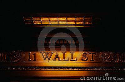 Wall strees sign Editorial Image