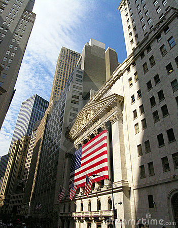 Wall Street Redactionele Stock Foto