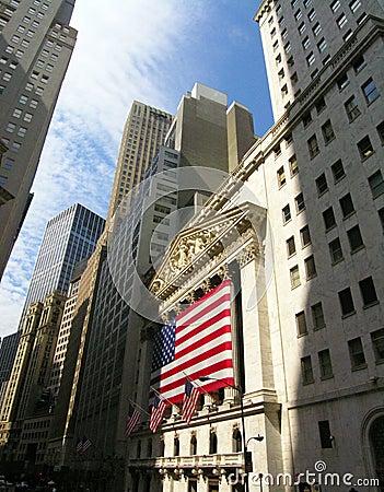 Wall Street Redaktionelles Stockfoto