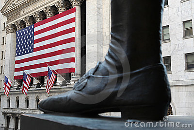Wall street Editorial Stock Image
