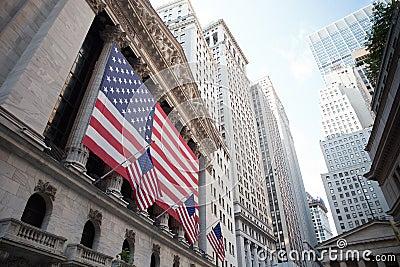 Wall street Editorial Stock Image