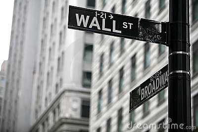 Wall street Editorial Stock Photo