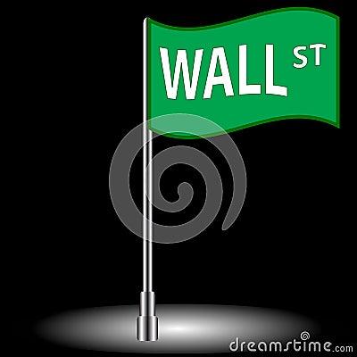 Wall street flag