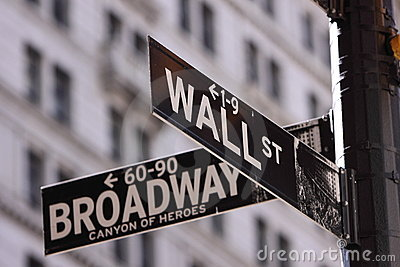 Wall Street and Main Street Editorial Stock Photo