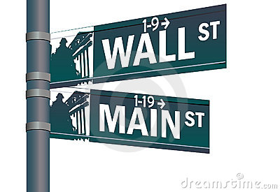 Wall street main street intersection Editorial Stock Photo