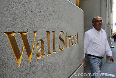 Wall Street in New York City Editorial Photo