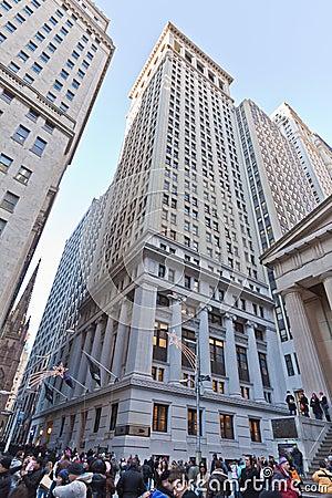 Wall Street New York City Editorial Photo
