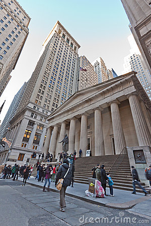 Wall Street New York City Editorial Photography