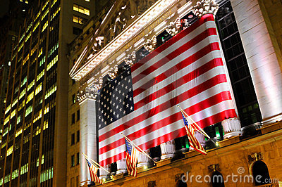 Wall Street, NYSE Editorial Stock Photo