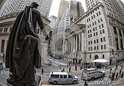 Wall Street Editorial Image