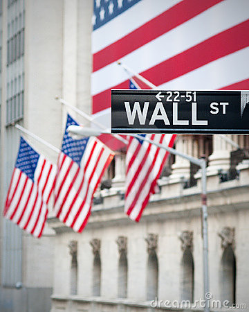 Free Wall Street Sign Royalty Free Stock Photos - 14605538