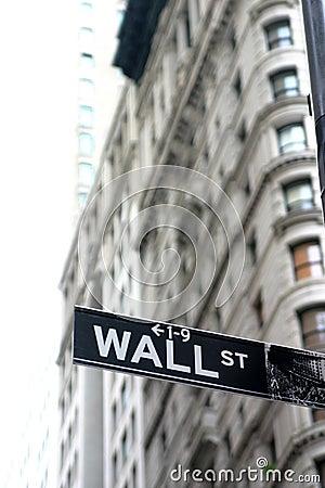 Free Wall Street Sign Royalty Free Stock Photos - 225618