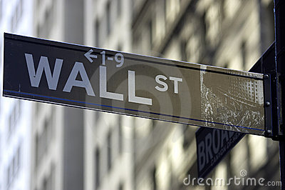 Wall street sign Editorial Stock Photo