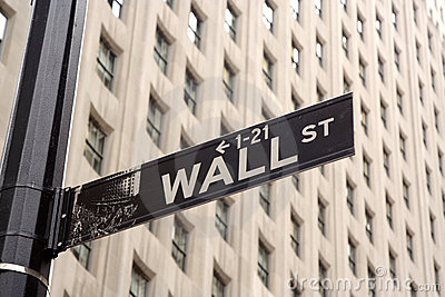 Wall Street Sign Editorial Photo