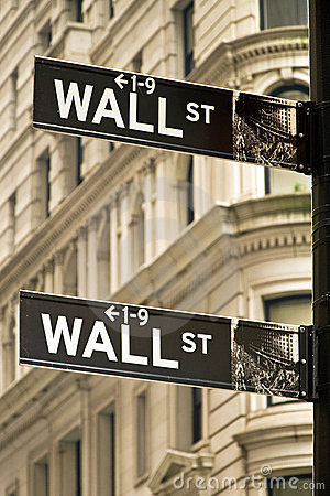 Wall street sign in New York city Editorial Photo