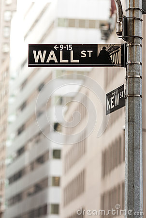 Wall street sign Editorial Photography