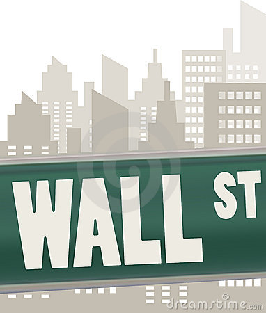 Wall street sign plate