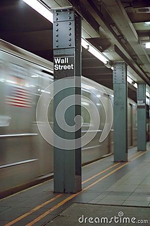 Wall Street Station Blur New York USA