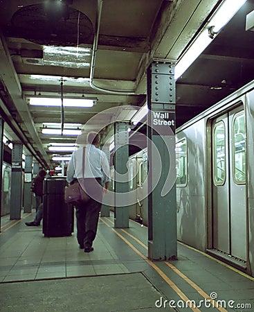 Wall Street Subway Commuter New York USA