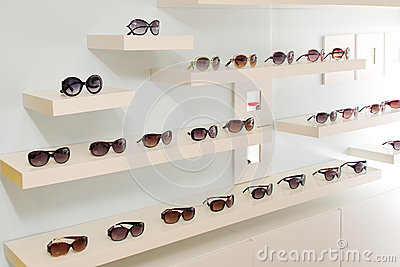 Wall of sunglasses