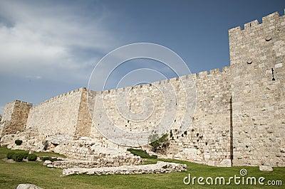 Wall surrounding Old City of Jerusalem