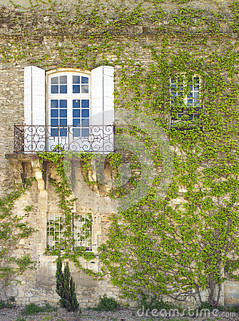 Wall with Window and Ivy, Arles France