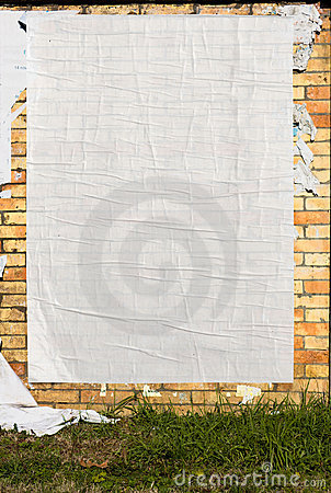 Free Wall With Blank Poster Royalty Free Stock Images - 14284719
