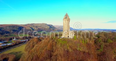 Wallace Monument. The Wallace Monument is a tower standing on the summit of Abbey Craig, a hilltop near Stirling in Scotland. It commemorates Sir William Wallace