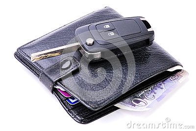Wallet and Car Key