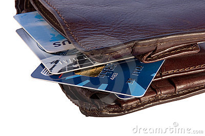 Wallet with credit cards inside
