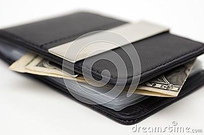 Wallet dollar one bw