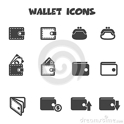 Free Wallet Icons Royalty Free Stock Photo - 41624955