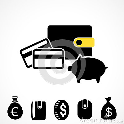 Wallet or Pocketbook Vector Icon Vector Illustration