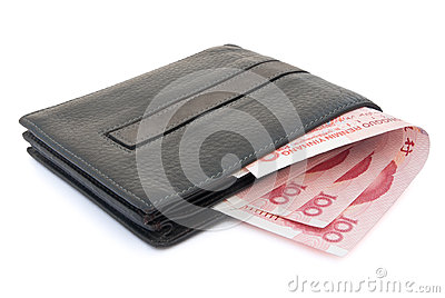 Wallet and RMB 100