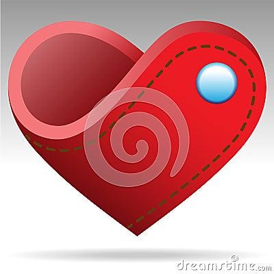 Wallet shape heart object