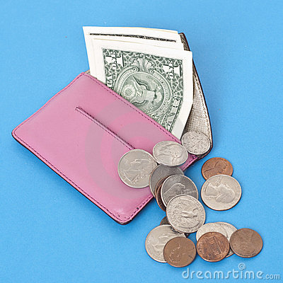 Free Wallet Spilling Out American Cash Stock Photography - 16751662