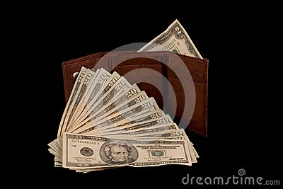 Wallet with Two Dollar Bill