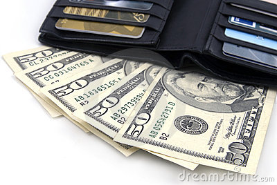 Wallet with US Dollars